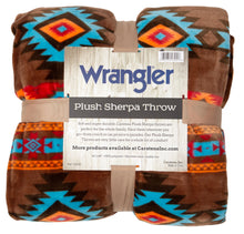 Load image into Gallery viewer, Wrangler Southwest Horizon Sherpa Fleece Throw Blanket
