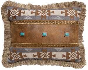 Wrangler Mesa Daybreak Three Conchos Throw Pillow