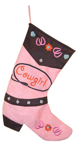Pink Cowgirl Christmas Stocking