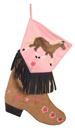 Girls Horse Christmas Stocking