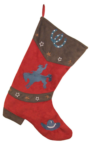 Red Bronc Christmas Stocking