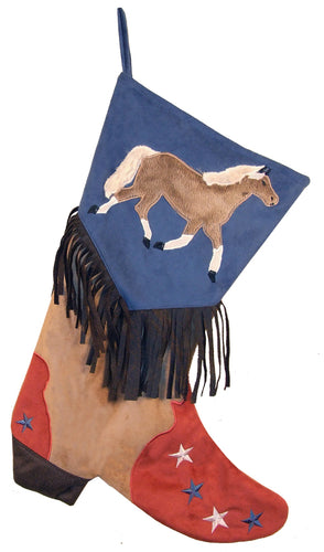 Boys Horse Christmas Stocking