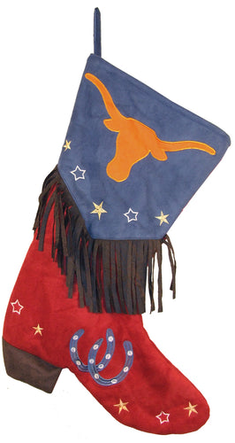 Longhorn Christmas Stocking