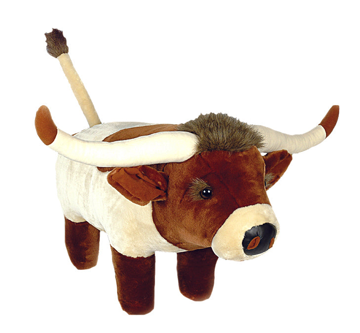 Longhorn Plush Footstool