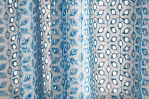 Lace Curtain Panels Set of 2 (Each 54x84), Blue Eyelet