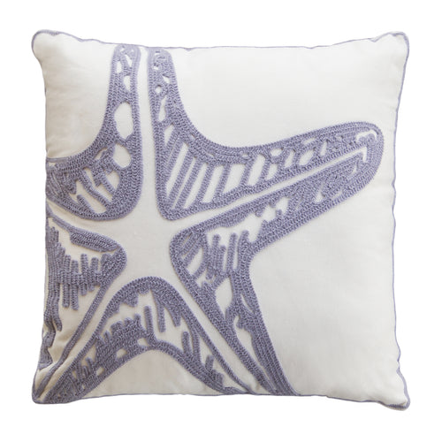 Lavender Starfish Pillow