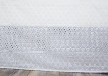 Load image into Gallery viewer, Gathered Lace Bed Skirt, White Eyelet