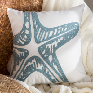 Blue Starfish Pillow