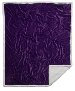 Purple Sherpa Plush Throw