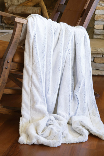 White Fox Faux Fur Throw