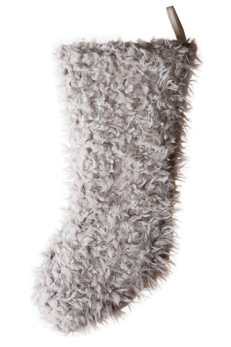Shaggy Faux Fur Stocking