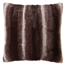 Load image into Gallery viewer, Chinchilla Striped Faux Fur Pillow