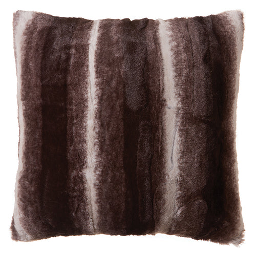 Chinchilla Striped Faux Fur Pillow
