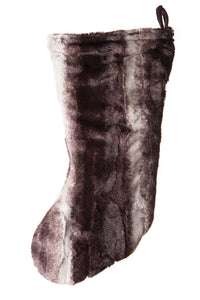 Chinchilla Faux Fur Stocking