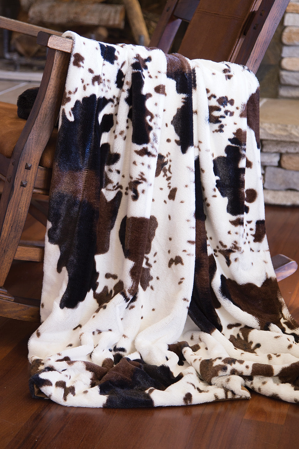 Cowhide Faux Fur Throw