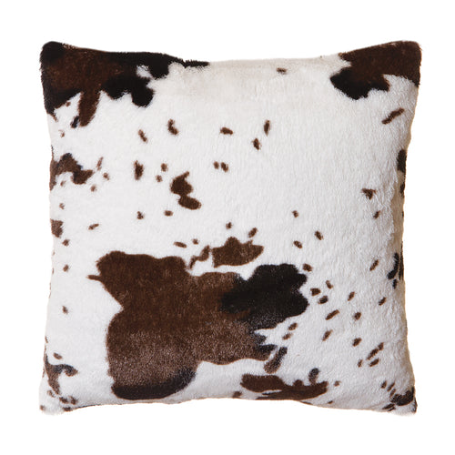 Cowhide Faux Fur Pillow