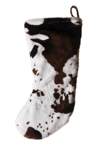 Cowhide Faux Fur Stocking