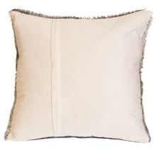 Load image into Gallery viewer, Grey Fox Faux Fur Pillow