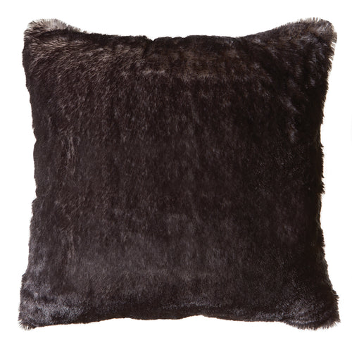 Grey Fox Faux Fur Pillow