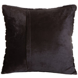 Black Mink Striped Faux Fur Pillow