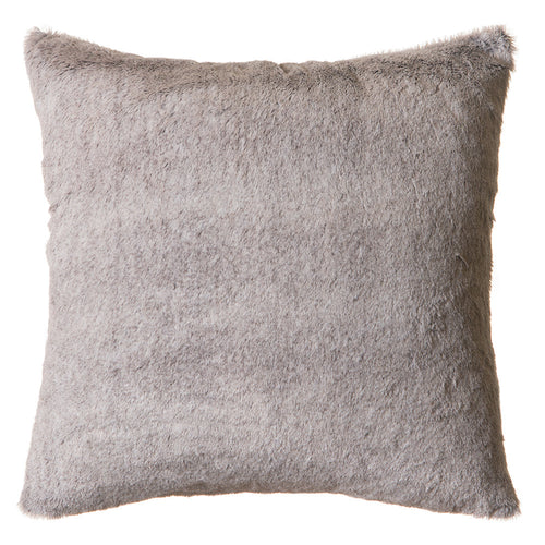 Grey Mink Faux Fur Pillow