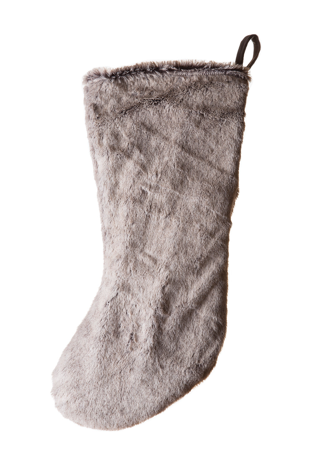 Grey Mink Faux Fur Stocking