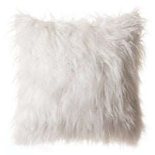 Load image into Gallery viewer, White Mongolian Faux Fur Pillow