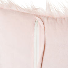 Load image into Gallery viewer, Pink Mongolian Faux Fur Pillow