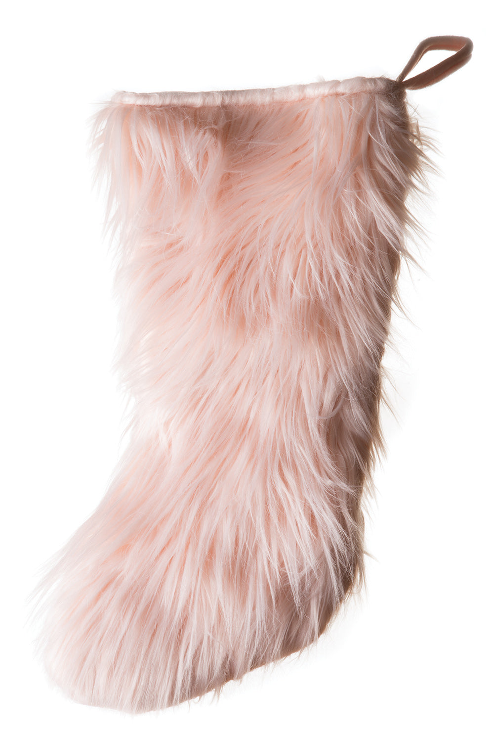 Pink Mongolian Faux Fur Stocking