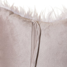 Load image into Gallery viewer, Silver Mongolian Faux Fur Pillow