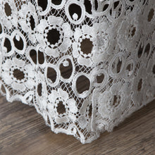 Load image into Gallery viewer, Gathered Lace Bed Skirt, Flower Lace