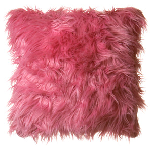 Watermelon Mongolian Faux Fur Pillow