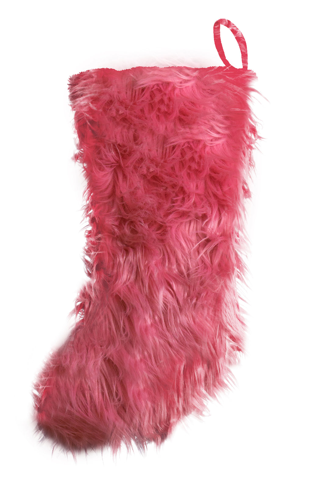 Watermelon Mongolian Faux Fur Stocking