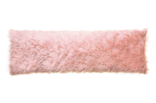 Pink Mongolian Faux Fur Body Pillow