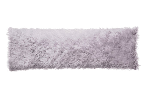 Silver Mongolian Faux Fur Body Pillow