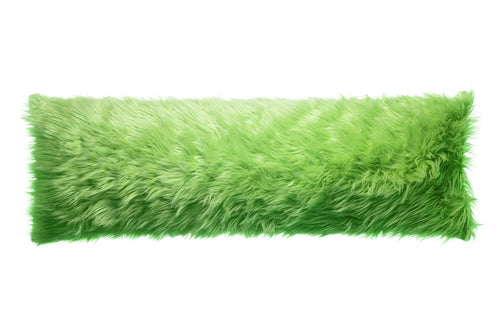Lime Mongolian Faux Fur Body Pillow