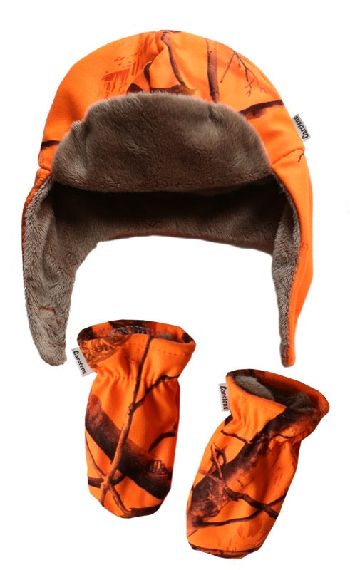 Realtree AP Blaze Orange Baby Hat & Mitten Set