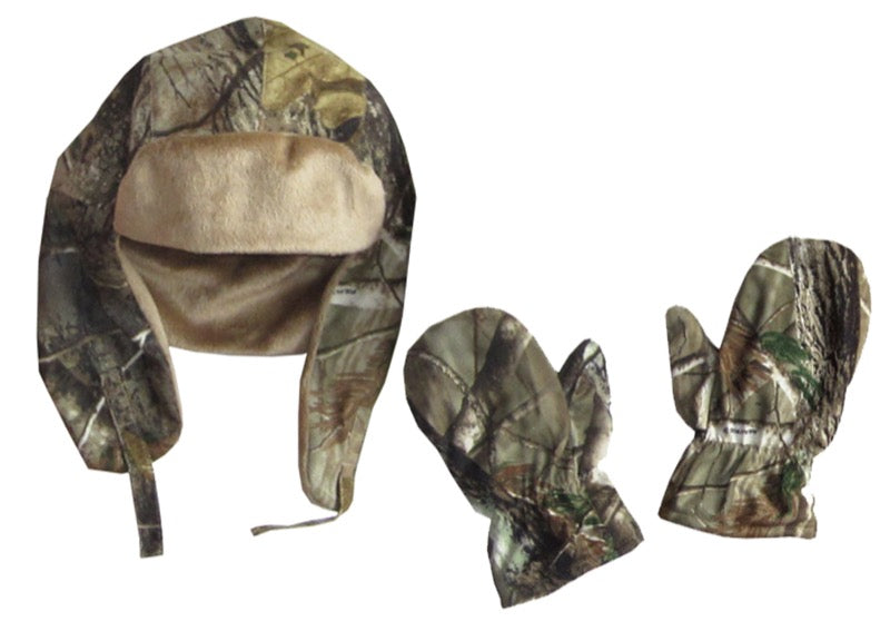 Realtree AP? Kids Bomber Hat & Mitten Set