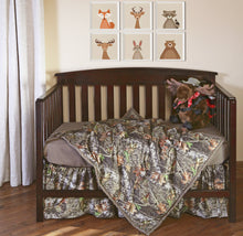 Load image into Gallery viewer, Mossy Oak Camo Crib Bedding Set