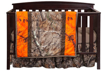 Load image into Gallery viewer, Realtree AP Orange Stripe 3 Piece Crib Set