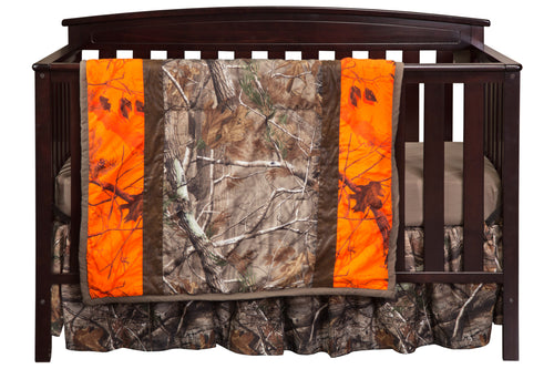 Realtree AP Orange Stripe 3 Piece Crib Set