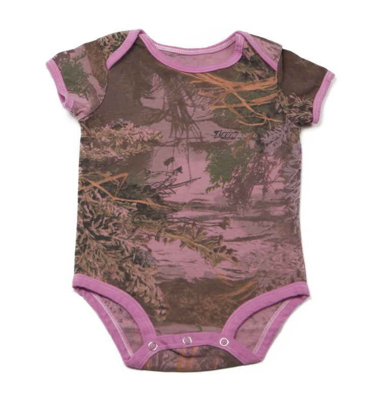 Realtree Max-1? Over-dye Pink onesie