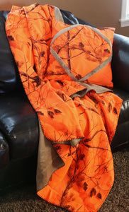 Realtree AP® Blaze Orange Throw