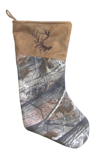 Buck Camo Christmas Stocking
