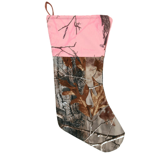 Realtree AP Christmas Stocking w/Pink Top