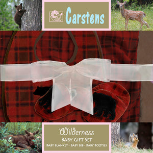 Red plaid boxed baby gift set