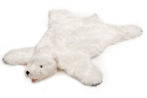 White bear plush rug, large