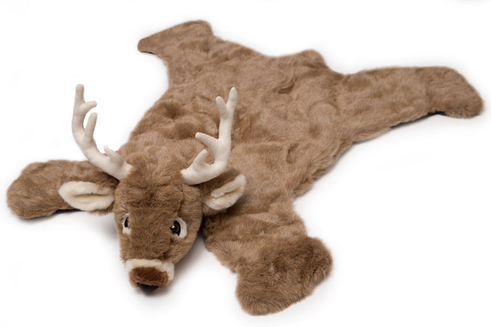 White Tail Deer Plush Rug, Small