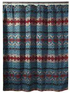 Turquoise Chamarro Shower Curtain