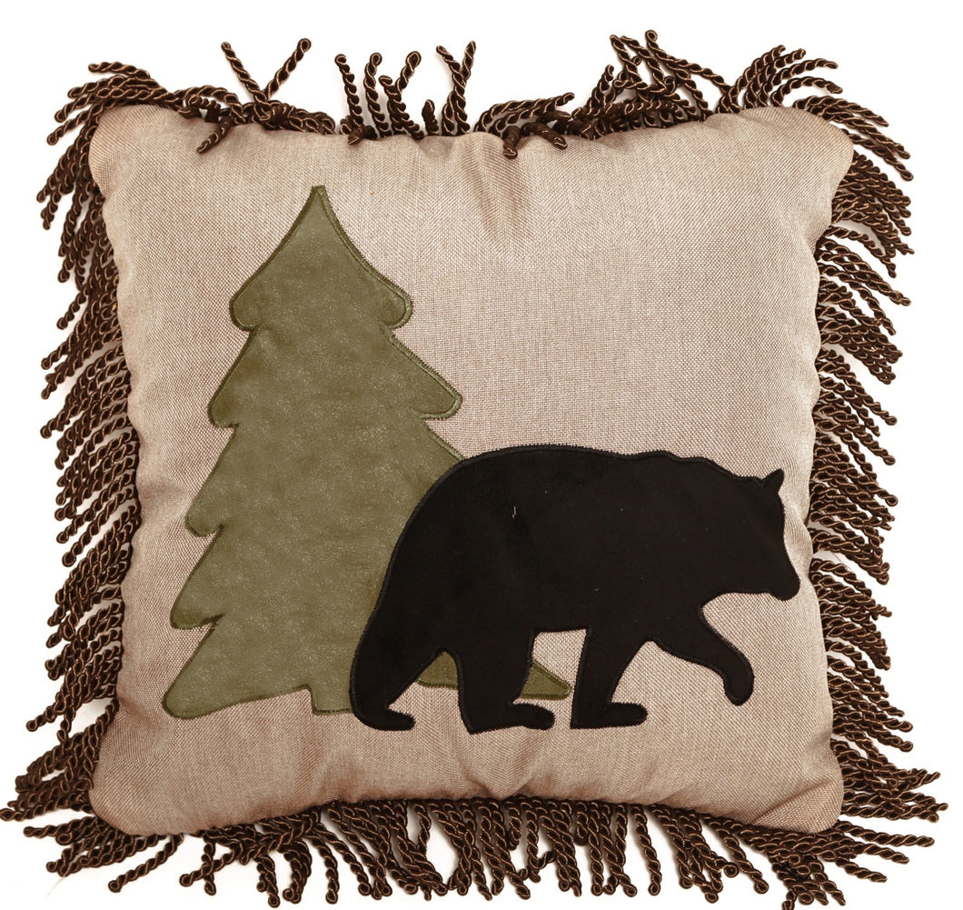 Bear and Tree Pillow
